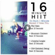 16 minute HIIT