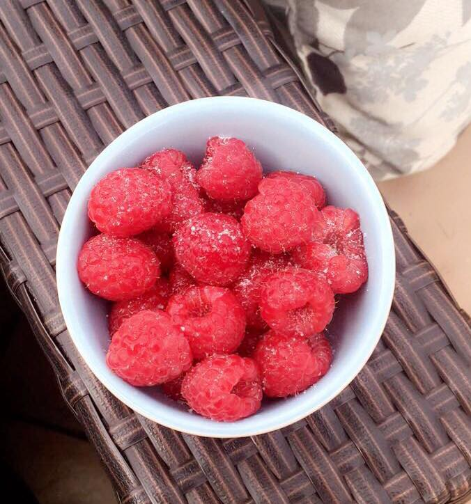 Raspberries with Stevia